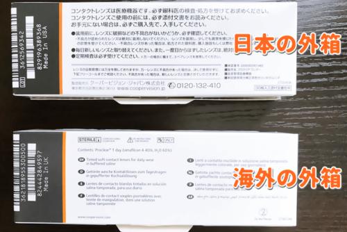 日本と海外の外箱の違い裏面